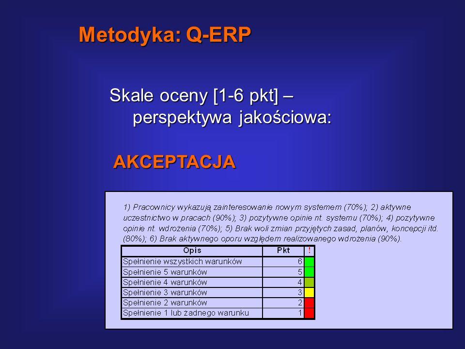 Metodyka: Q-ERP Skale oceny [1-6 pkt] – perspektywa jakościowa: